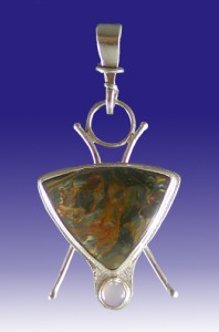 Pietersite and Silver Pendant