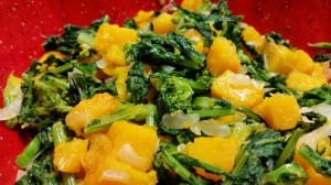 Rapini with Butternut Squash