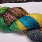 Pandora's Yarn Luxe sock yarn in Moccasin