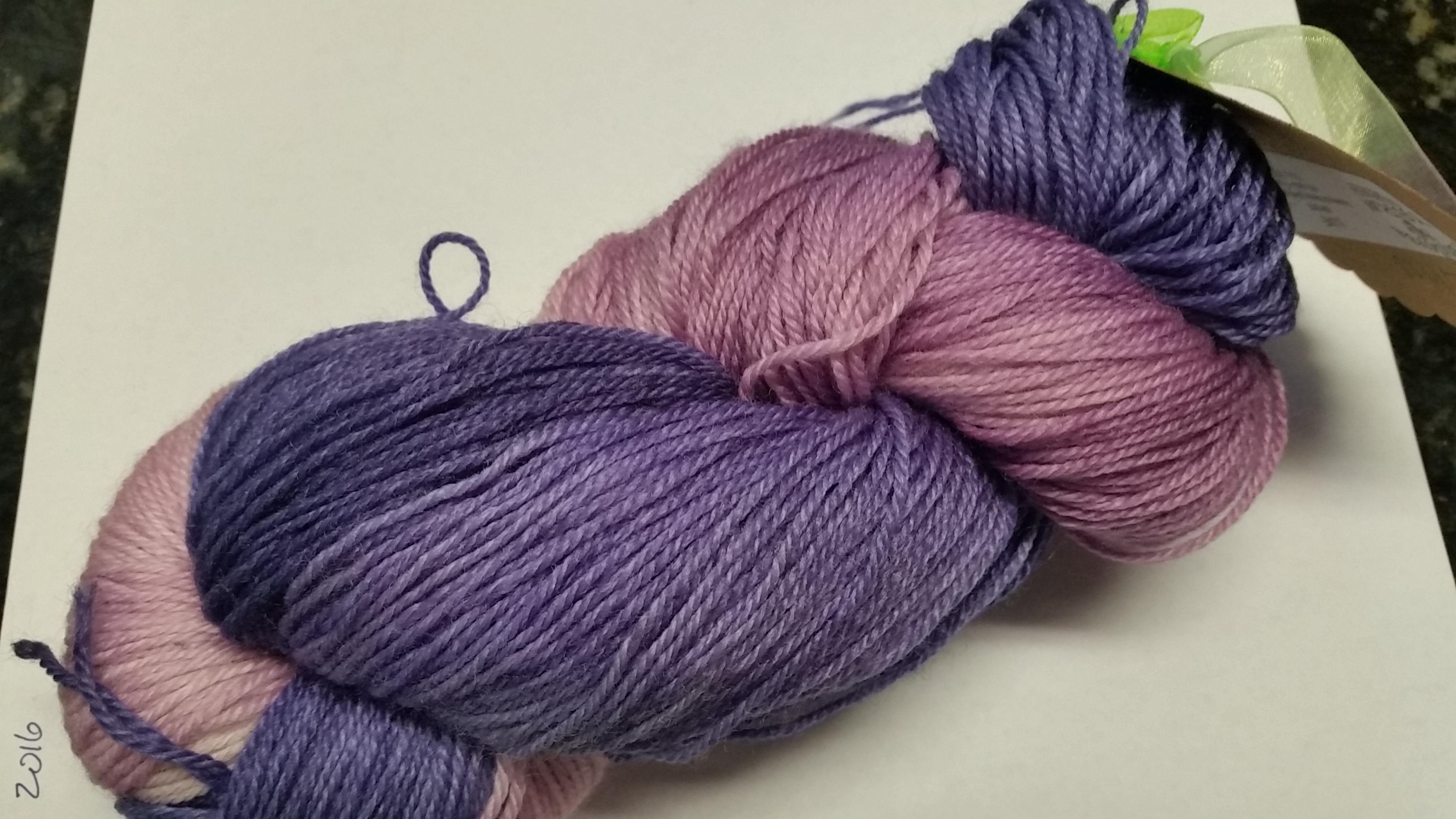 Pandora's Yarn Luxe sock yarn in Lilacs