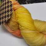 Pandora's Yarn Luxe sock yarn in Citrine