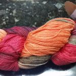 Pandora's Yarn Luxe sock yarn in Bird of Paradise