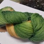 Pandora's Yarn Luxe sock yarn in Celtic