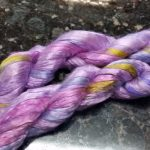 Bombyx Silk from Chasing Rainbow Dyeworks in colorway Country Garden
