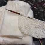 Silk hankies knitted directly without spinning first