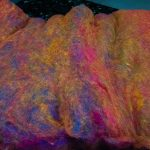 Merino Art Batt from Tangled Up in Wool, colorway Carnival