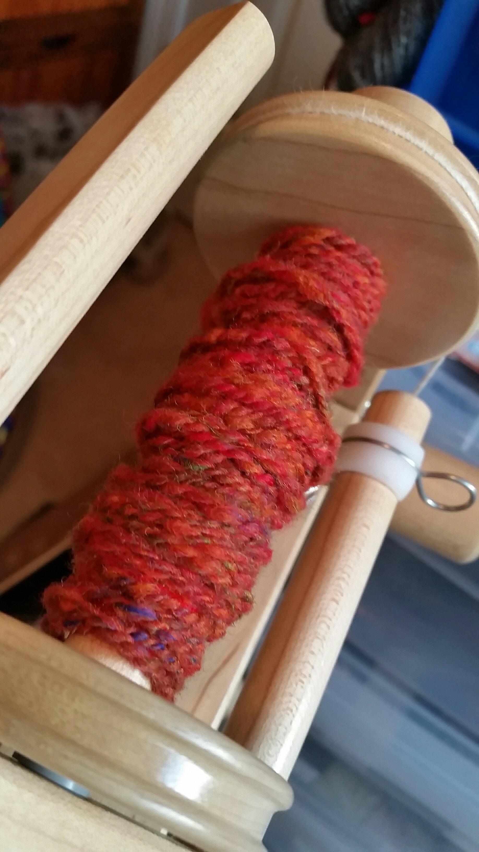 Yarn from Merino Batt
