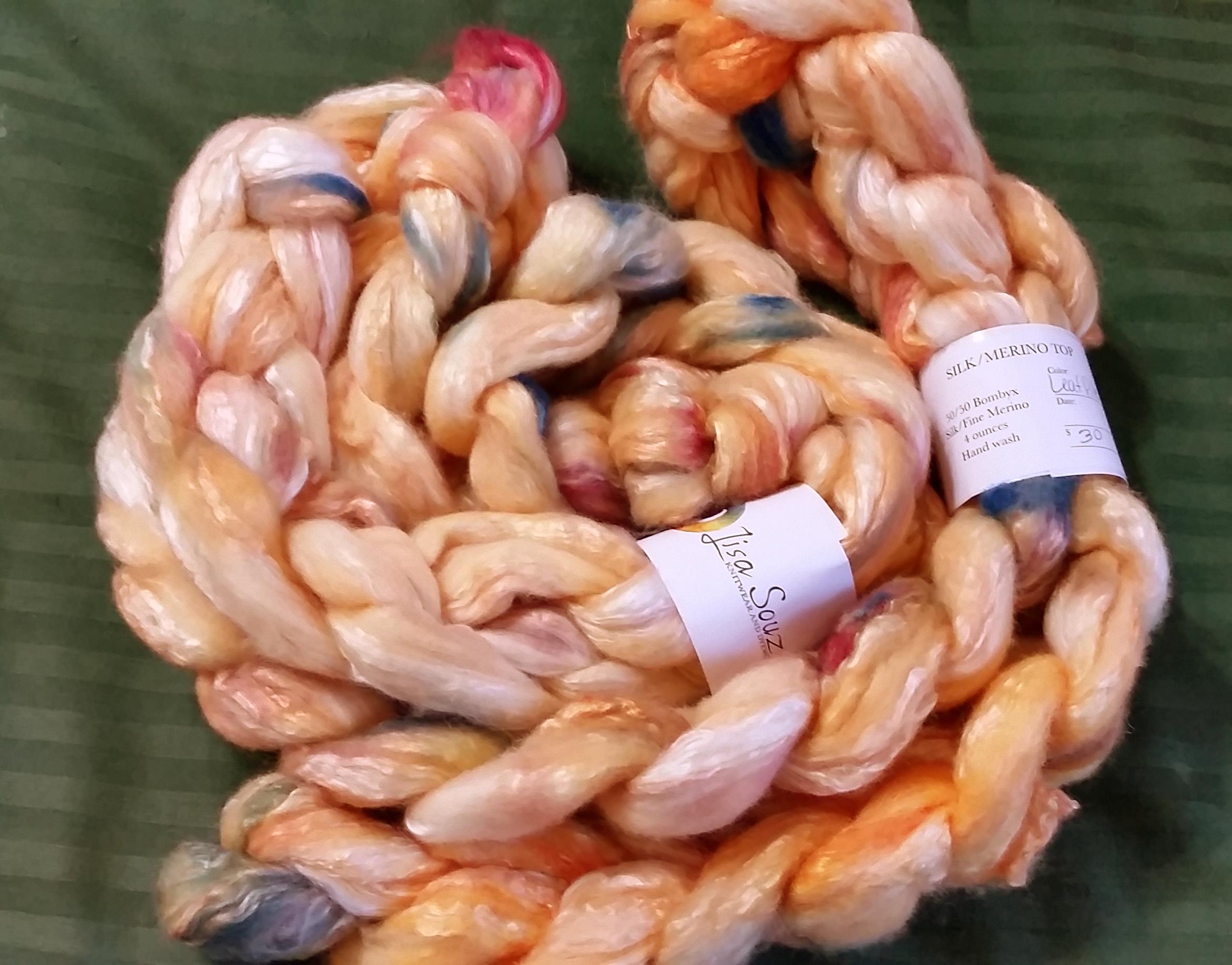 Bombyx Silk/Merino 50/50 from Lisa Souza Dyeworks