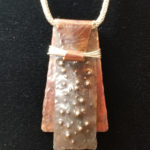 Copper and Silver Layers Pendant