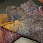 Maple Leaf Merino/silk noil batt