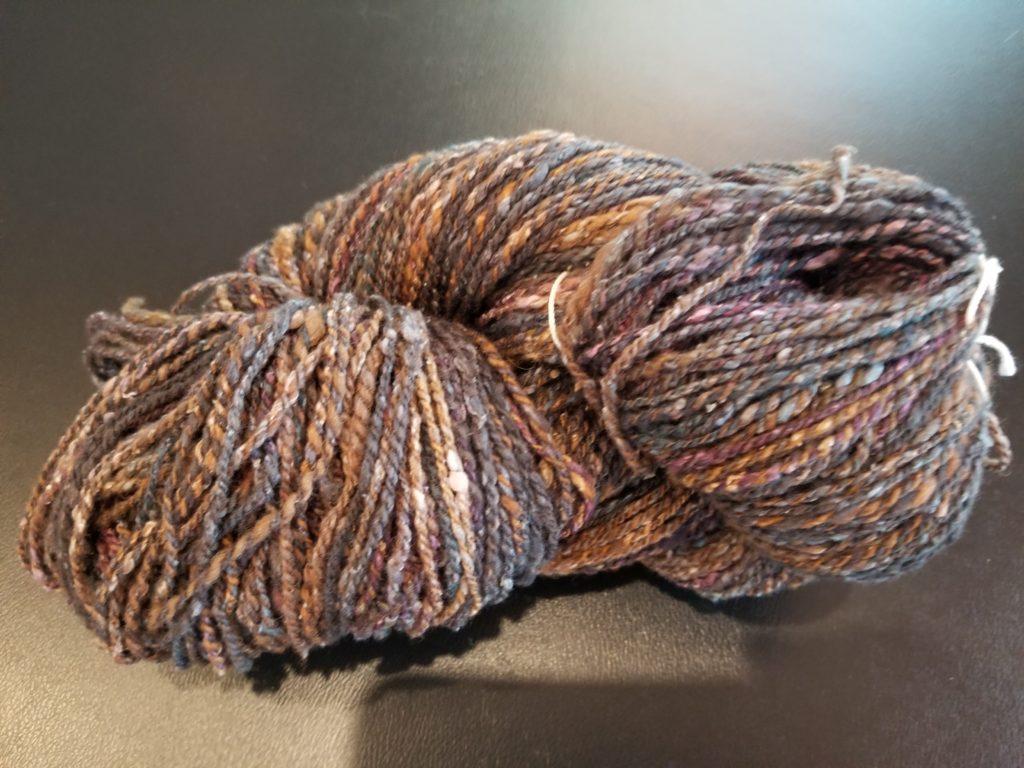 Merino/Silk Noil handspun yarn
